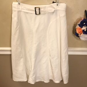 NWT East 5th linen blend belted skirt